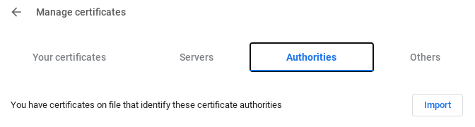 Manage Certificates