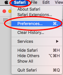 Safari-Preferences