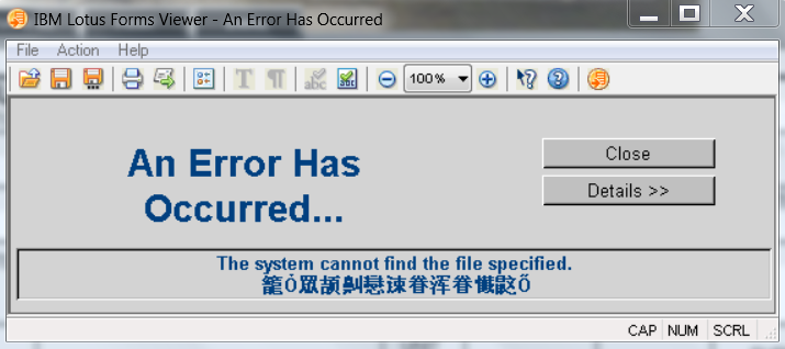 Chinese Error message image