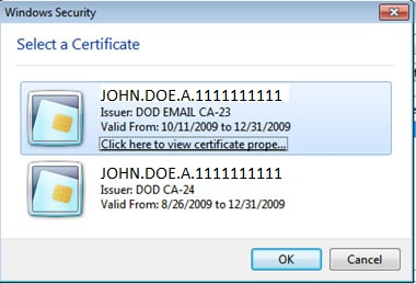 Select Email certificate